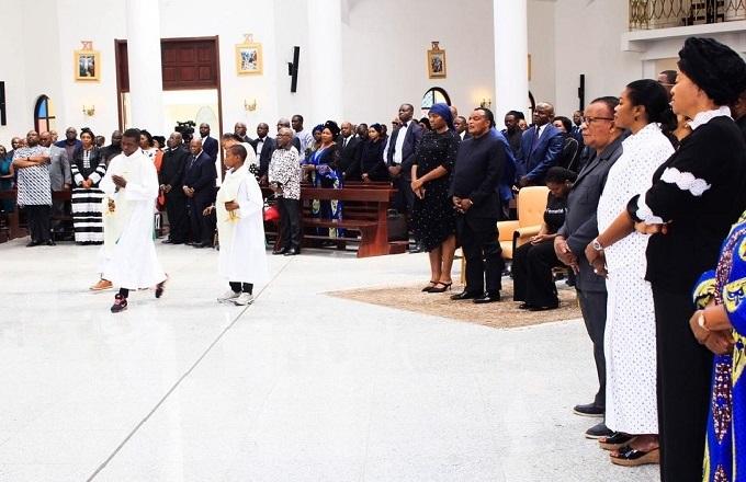 Congo - Oyo : Denis Sassou  N'Guesso présent à la messe d'action de grâce pour le repos de l'âme de Margueritte Ambende Nguesso