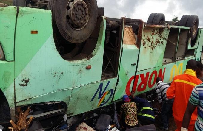 Congo  - Circulation routière : Effroyable accident d'un bus  ''Océan du Nord'' à  Moukondo vers Dolisie
