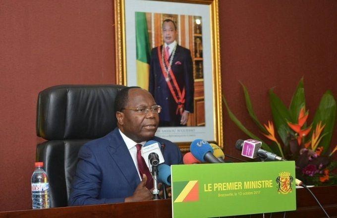 Clément Mouamba face à la presse ce jeudi à Brazzaville