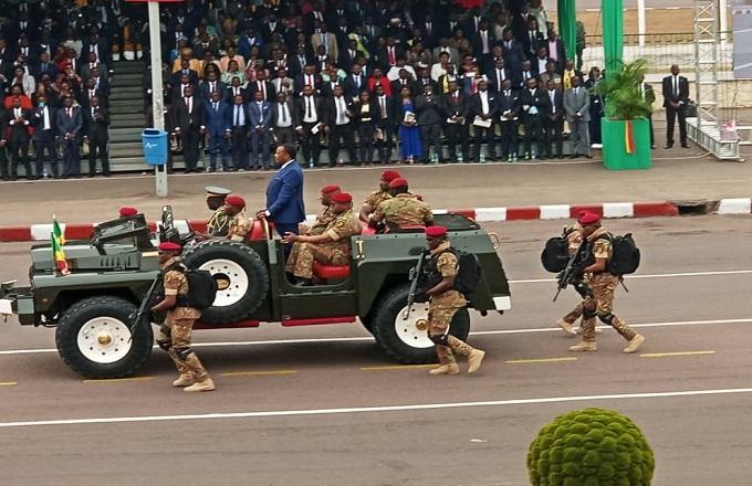 Denis Sassou N'Guesso a présidé la parade militaire du 15 août 2019