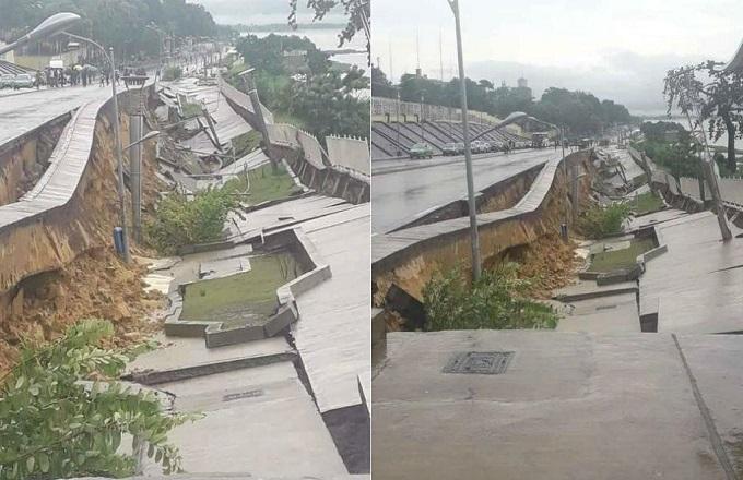Brazzaville : Effondrement de la corniche, la forte pluviométrie est la principale cause et non les maraichers