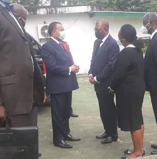 Denis Sassou N'Guesso aux obsèques de Marcel Éloi Rahandi Chambrier à Libreville