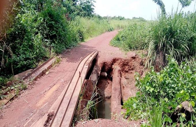 Niari : La route Dolisie-Kimongo-Londéla-Kayes en état de délabrement très avancé