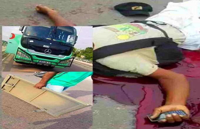 Brazzaville : Un autre bus de la société « Océan du Nord » a percuté un jeune homme