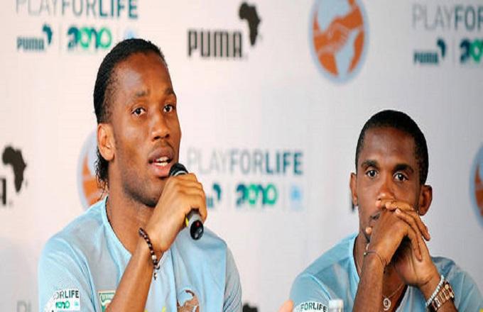 Didier Drogba et Samuel Eto'o entrent à la CAF