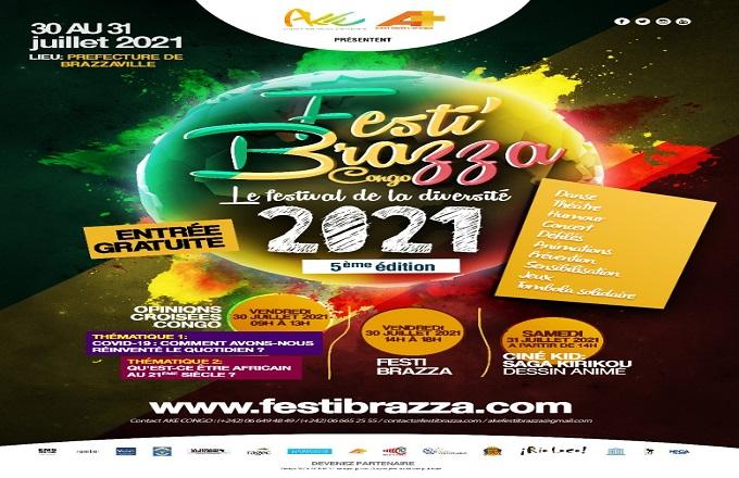 5ème  édition de Festi'Brazza : la culture en mode déconfinée à Brazzaville ce vendredi
