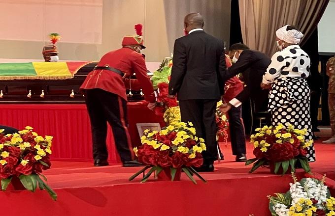 Congo : Denis Sassou N'Guesso rend un dernier  hommage à Justin Koumba