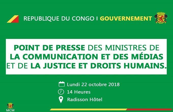 Congo – Gouvernement : Conférence de presse conjointe des ministres Moungalla et Bininga