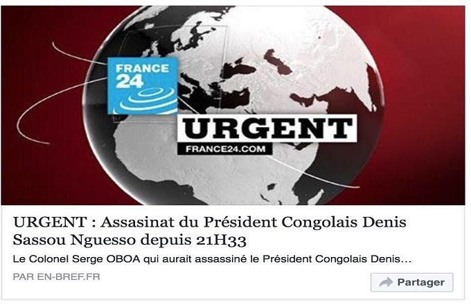 Congo: Le président Denis Sassou Nguesso n'est pas mort!