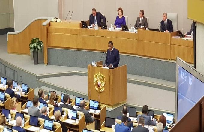 Denis Sassou N'Guesso évoque le projet de construction d'un oléoduc au Congo sur près de 1000 km devant le parlement russe