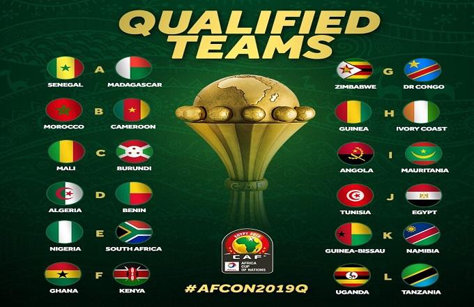 CAN 2019 : Voici les 24 qualifiés