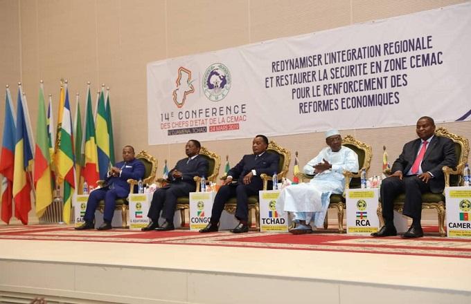 Denis Sassou N'Guesso participe au sommet de la CEMAC à Ndjamena