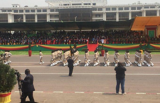 Défilé militaire et civil  à Brazzaville pour les 58 ans d'indépendance du Congo